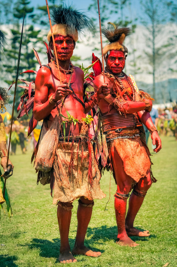 Nude men of new guinea