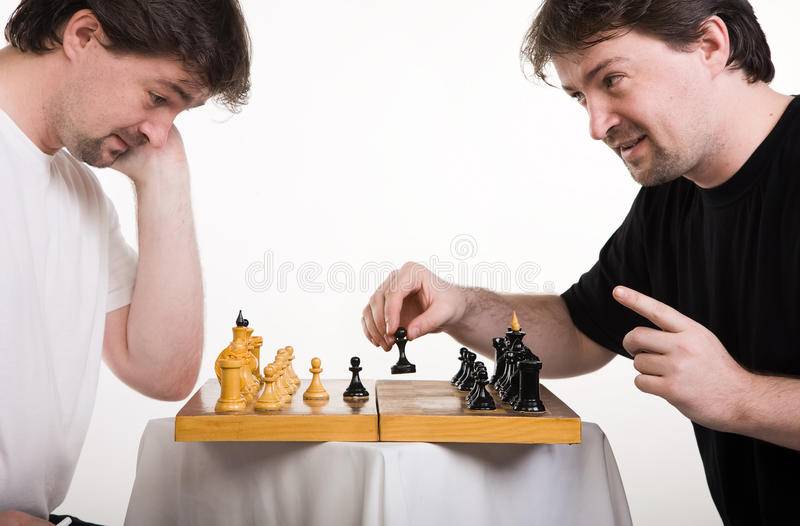 Two Men Play A Chess Royalty Free Stock Image