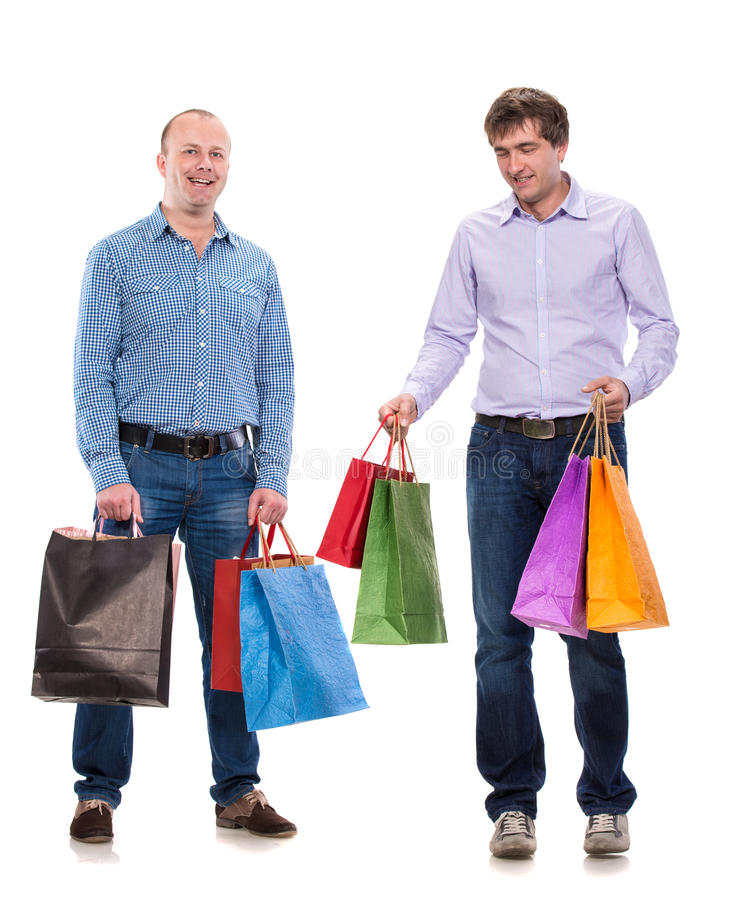 Download Two Men With Shopping Bags Royalty Free Stock Photography - Image: 35319437