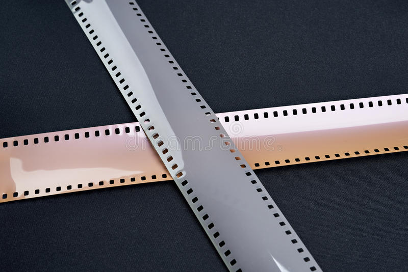 Two 35mm photographic film royalty free stock image