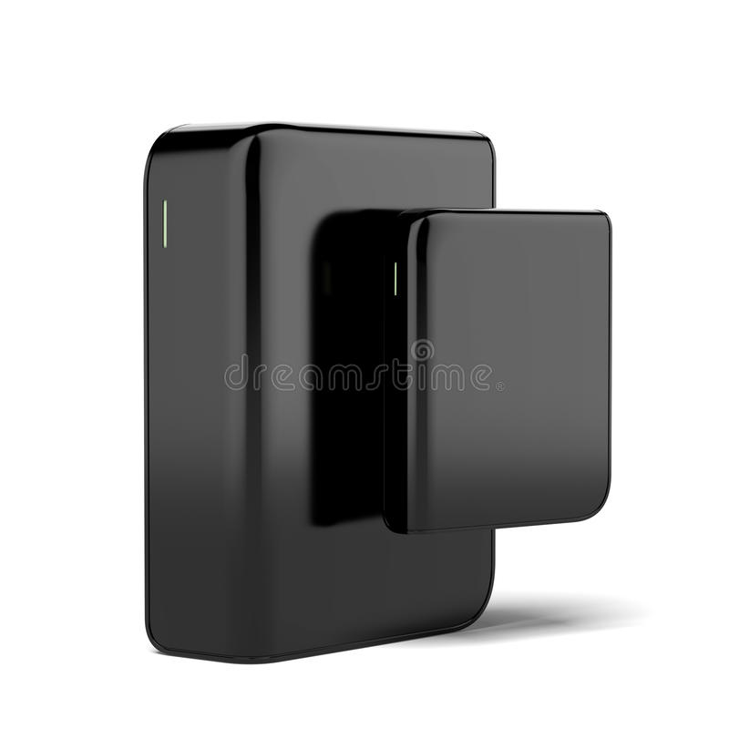 Two Mobile Hard Disks Royalty Free Stock Images