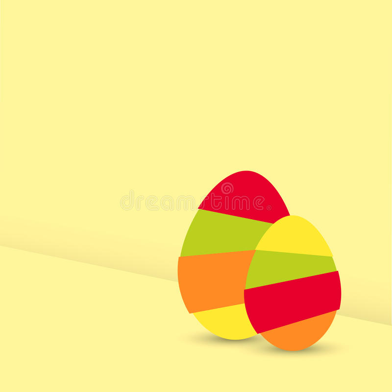Two Modern Easter Egg Graphic Elements Royalty Free Stock Image