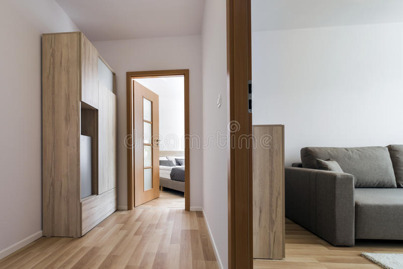 Two modern simple design rooms royalty free stock image
