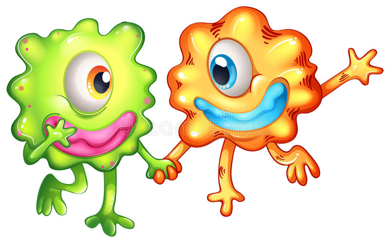 Download Two Monsters Happy Of Their Togetherness Stock Illustration - Illustration: 33908839