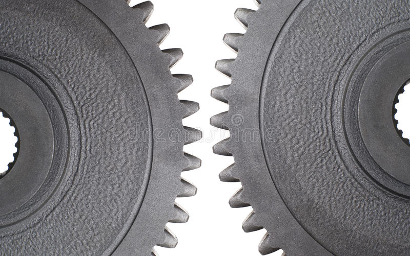 Two motion gears royalty free stock photography