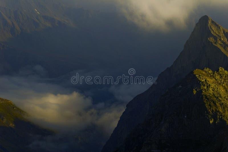 Two mountain peaks near Grossglokner glacier.