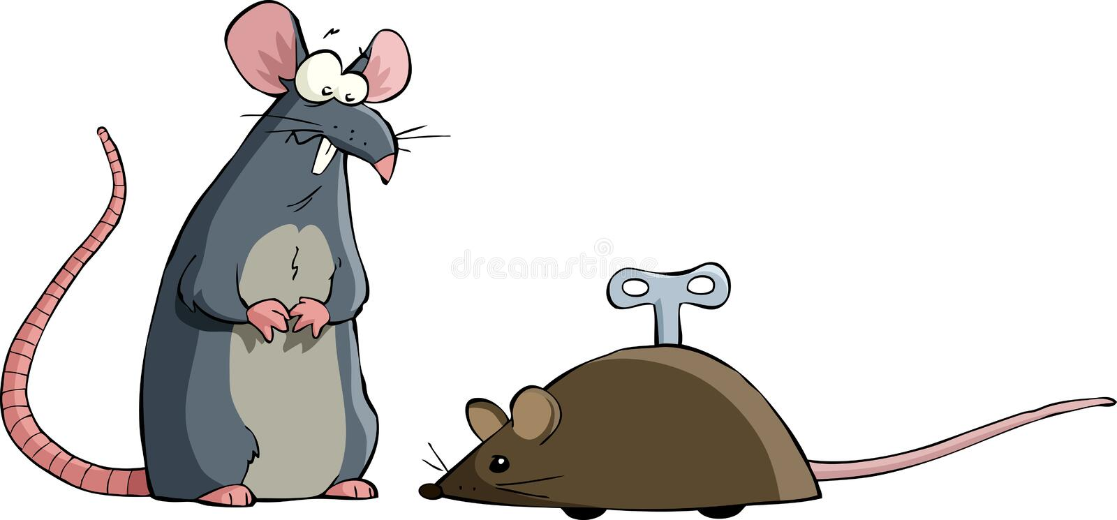 Download Two mouse stock vector. Illustration of mechanical, animal - 23074703