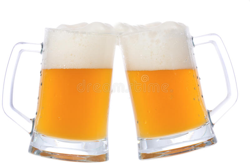 Download Two mugs of beer stock image. Image of bubble, filled - 16083043