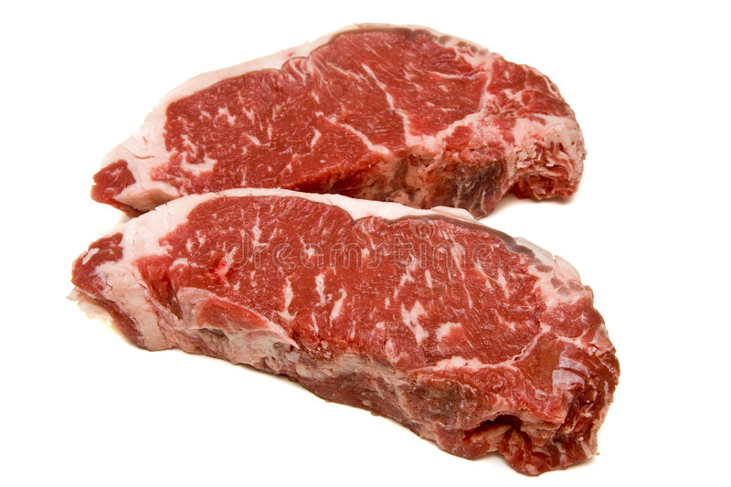 Download Two New York Strip Steaks stock image. Image of protein - 8616133