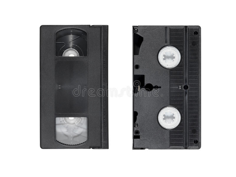 Download Two obsolete video tapes stock photo. Image of recorder - 21162960
