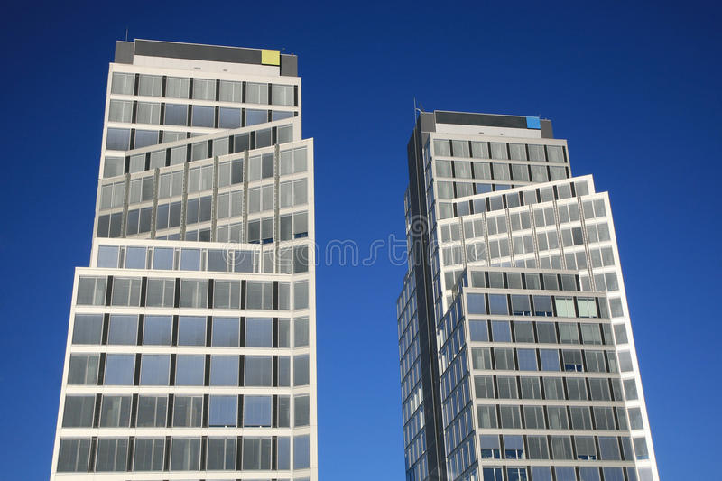 Download Two office buildings stock photo. Image of windows, design - 35371366