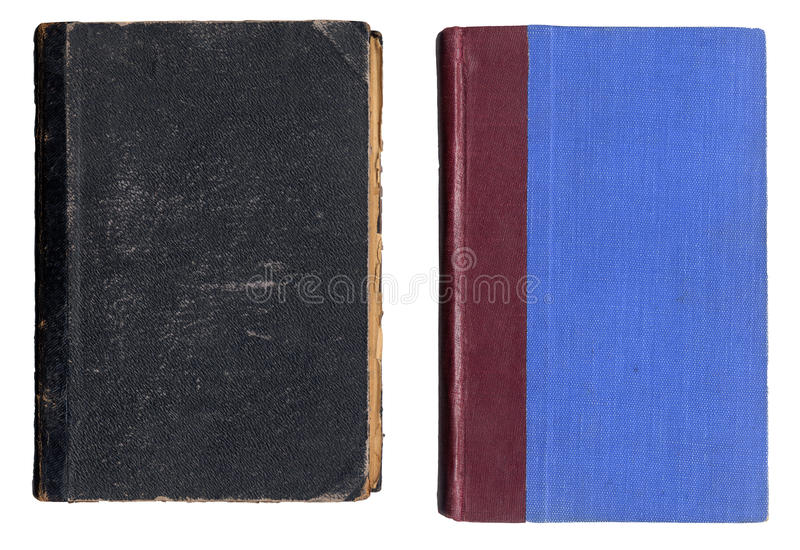 Two Old Book Covers stock photography