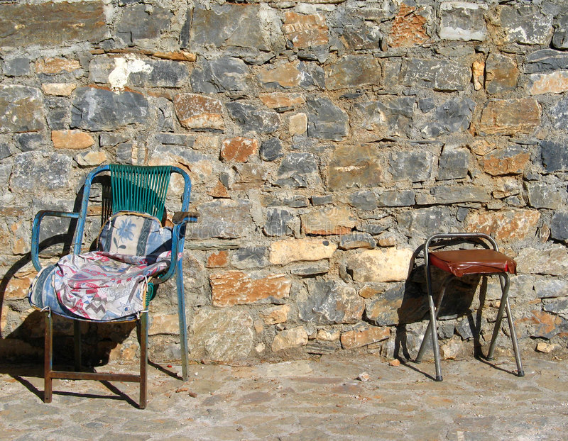 Two old chairs royalty free stock images