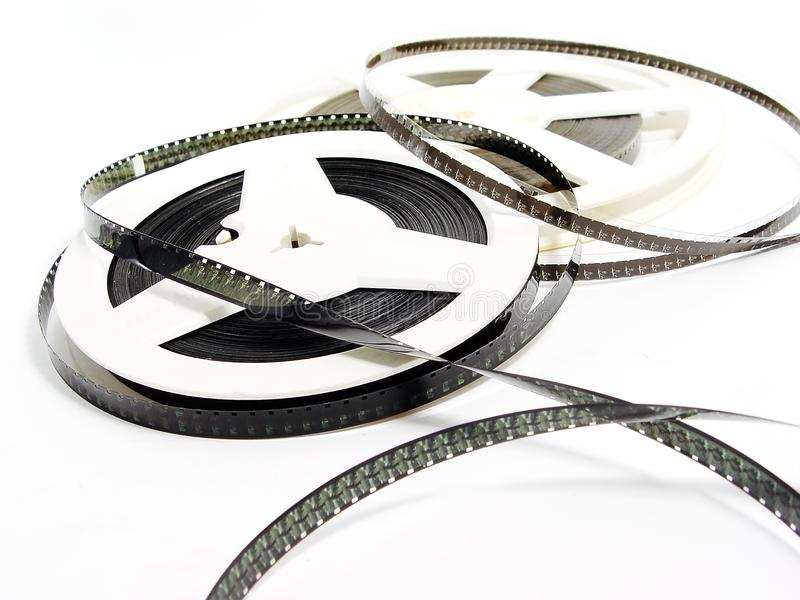 Two old film reels stock photography