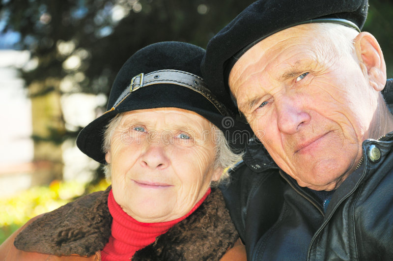 Two old people royalty free stock image