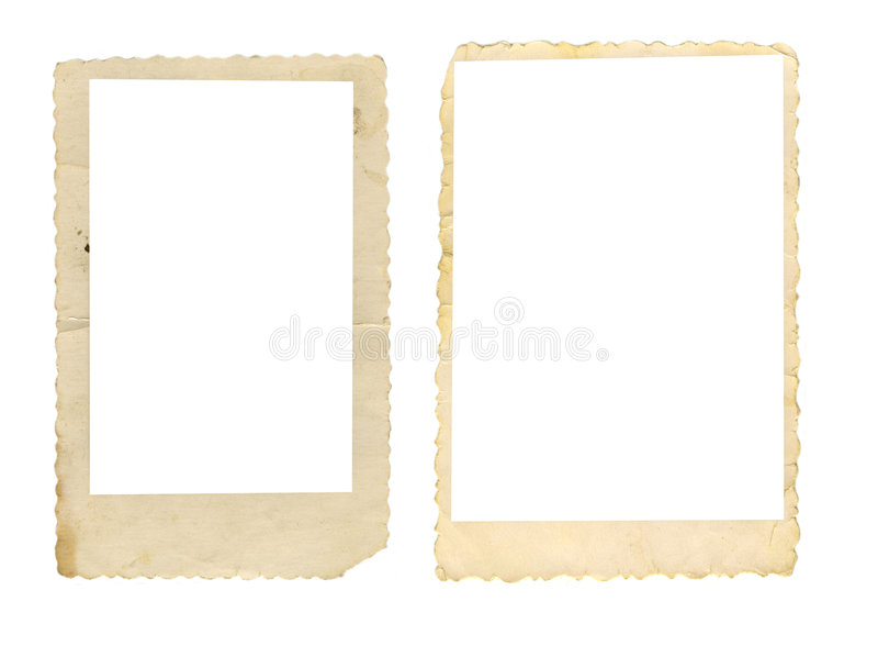 Two Old Photo Frames Stock Photography