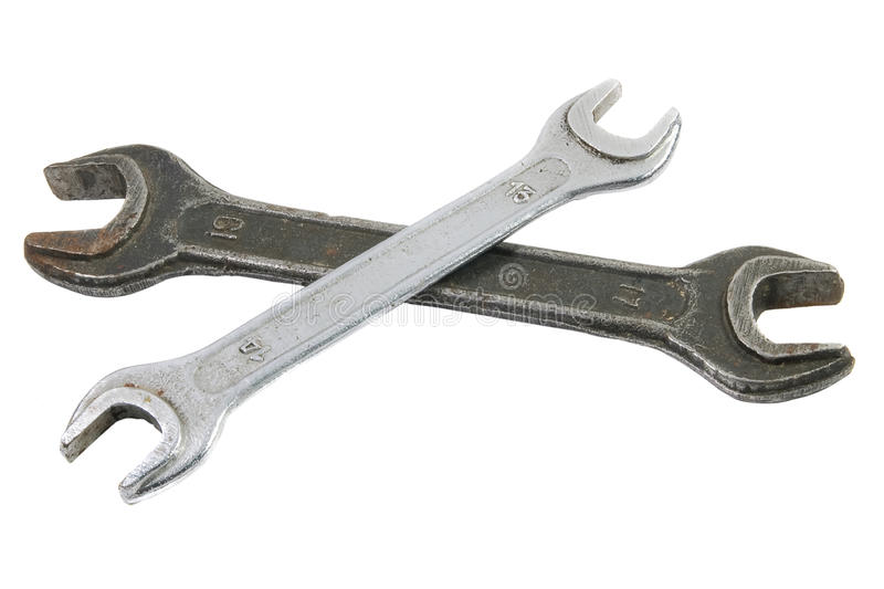 Two old Spanner / wrench stock images