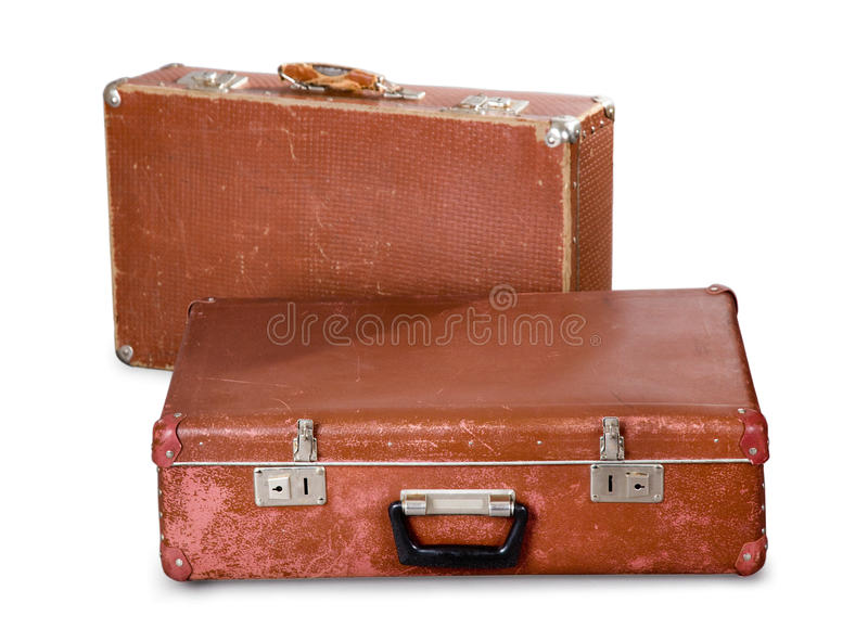 Download Two old suitcases. stock image. Image of time, handle - 20277817