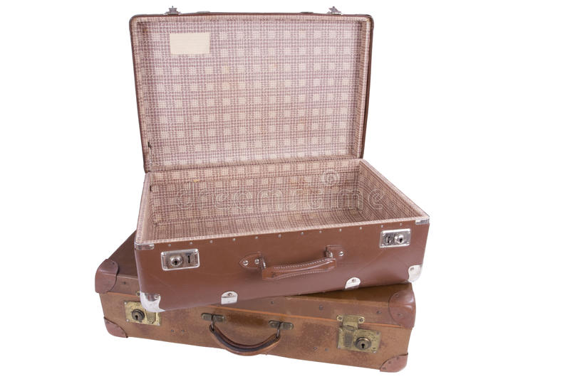 Two Old Suitcases Stock Photo