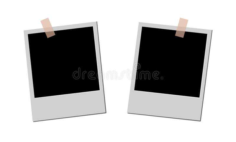 Blank photos vector illustration