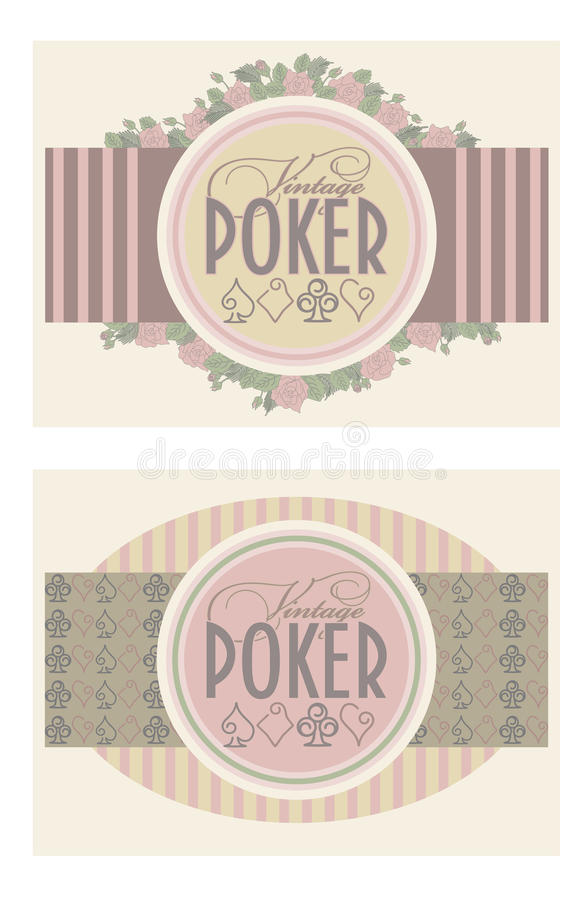 Download Two Old Vintage Poker Banners Stock Image - Image: 42906395