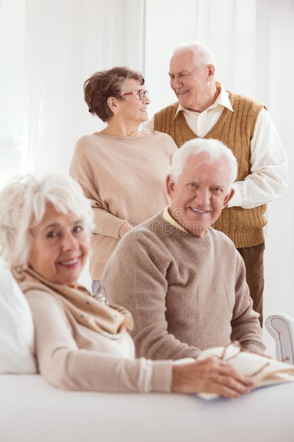 Two older marriages royalty free stock images