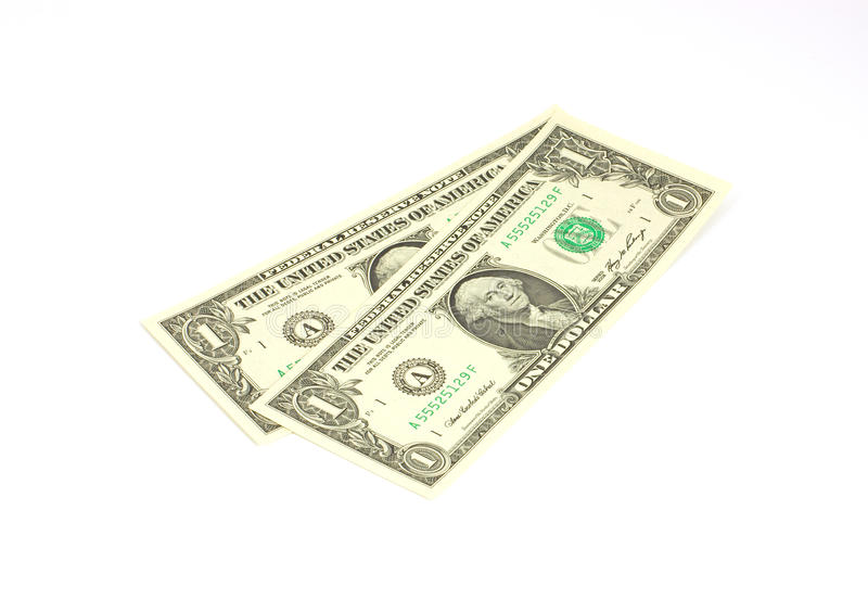 Download Two One Dollar Bills At An Angle Stock Photo - Image: 13155982