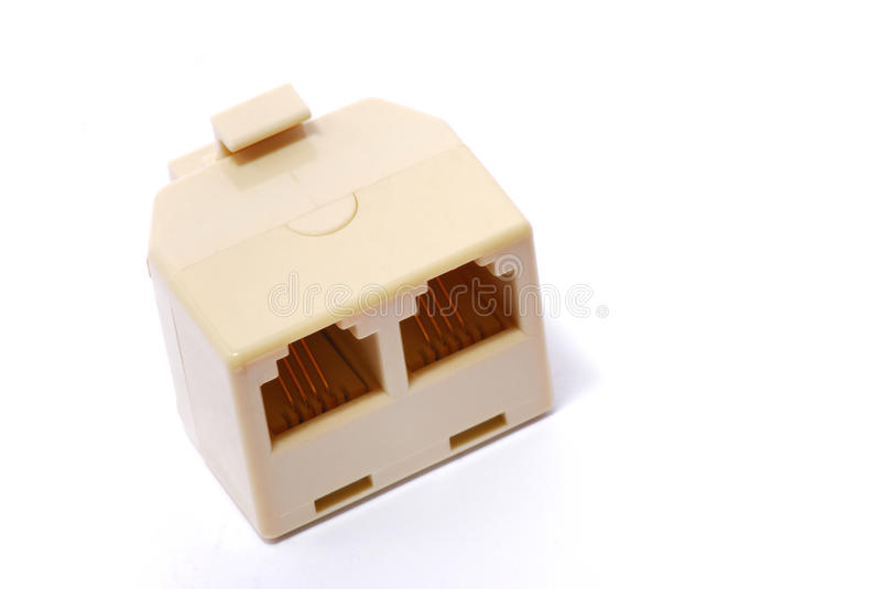 Two in one phone line adaptor royalty free stock photos