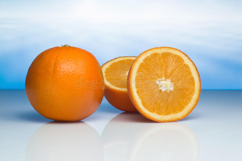 Download Two oranges stock photo. Image of fresh, nobody, citrus - 25506586