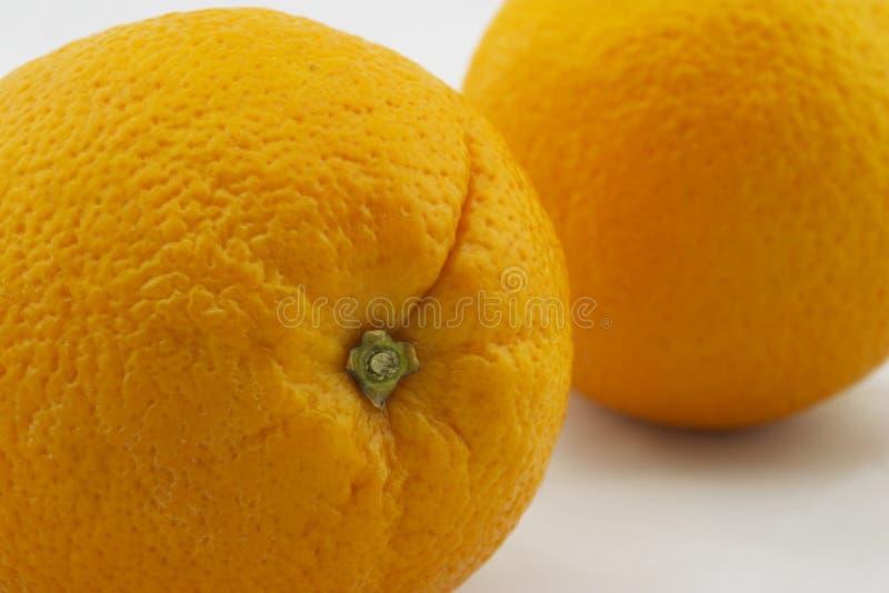 Download Two Oranges, Closeup Stem Dimples Stock Photo - Image: 4482