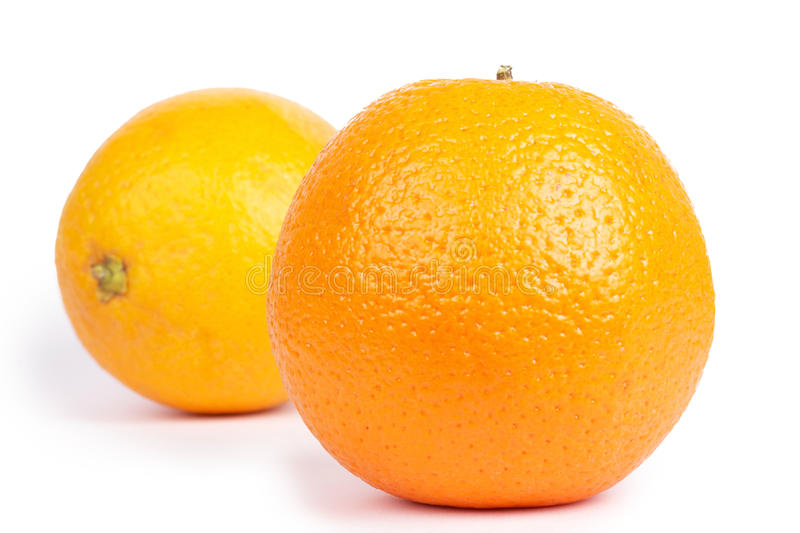 Download Two Oranges Isolated On White Stock Image - Image: 14859219
