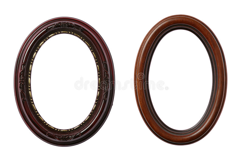 Two Oval Frames royalty free stock images
