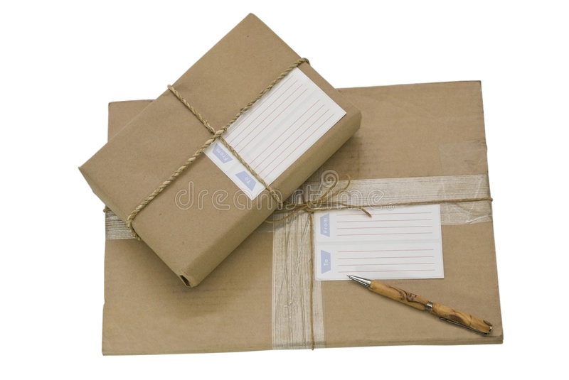 Download Two Packages/Parcels stock photo. Image of mail, communicate - 6302604
