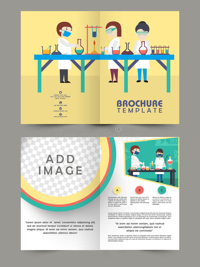 Two Page Brochure Template Zrom