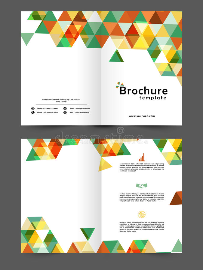 Two Page Business Brochure Or Template Stock Illustration - Two page brochure template
