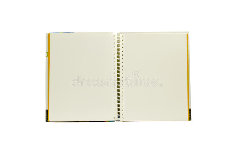 Two page note book isolated royalty free stock photos