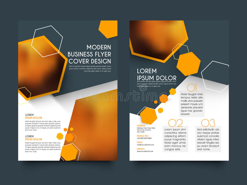 Two Pages Business Brochure Template Or Flyer Stock Illustration
