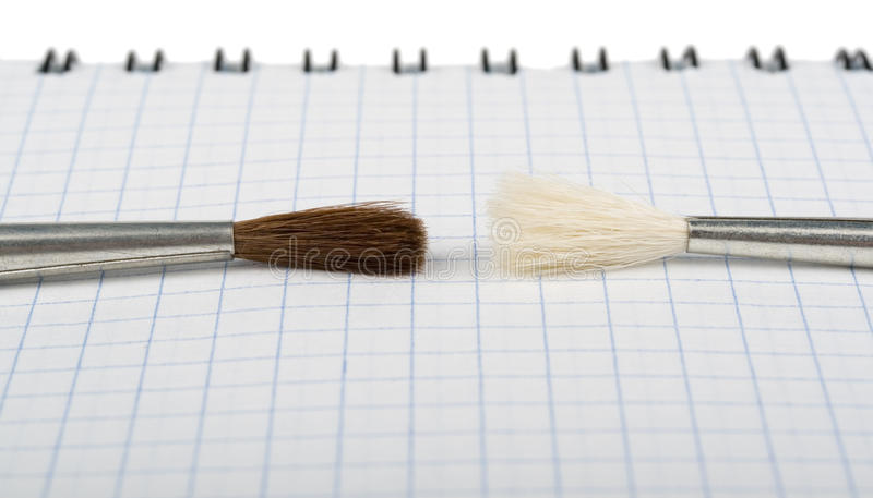 Two painters royalty free stock images