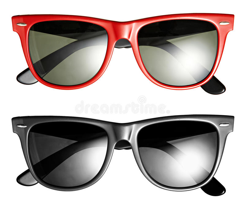 Two pairs of modern trendy sunglasses royalty free stock images
