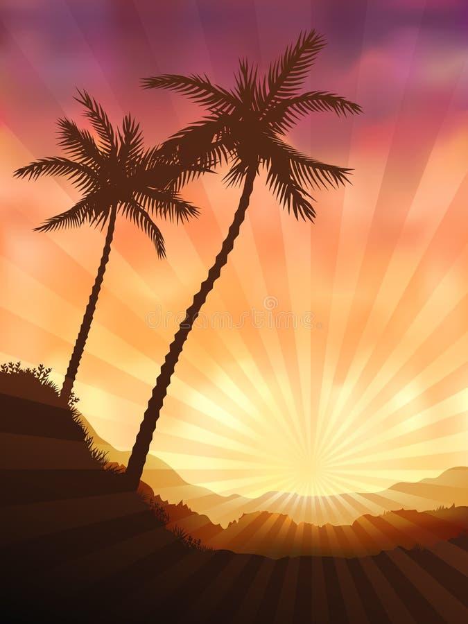 Two palms stock illustration