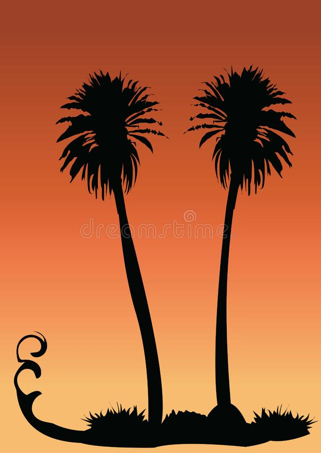 Two Palms Free Stock Photography