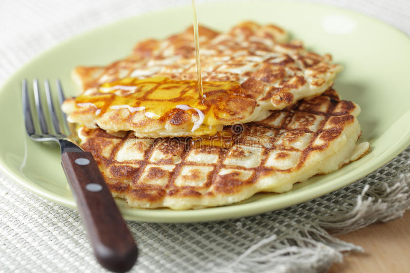 Two pancakes stock images