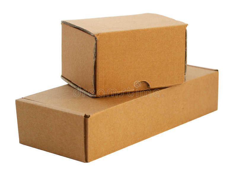 Two paper packet stock photo