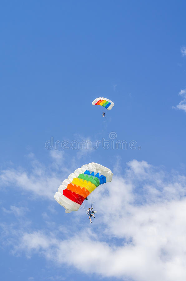 Parachutist in the sky royalty free stock photography