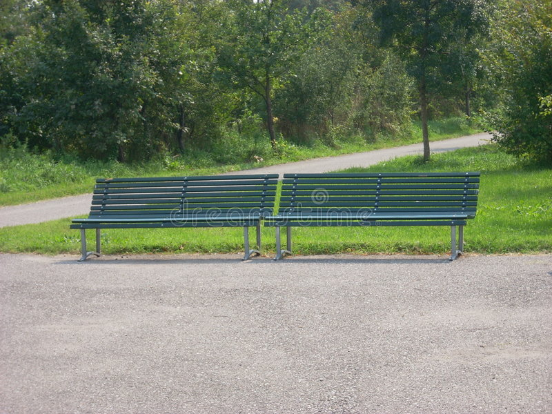 Download Two park bench stock image. Image of environment, colors - 3135547