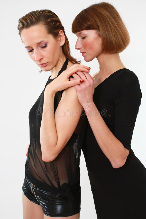 Two passionate women royalty free stock photography
