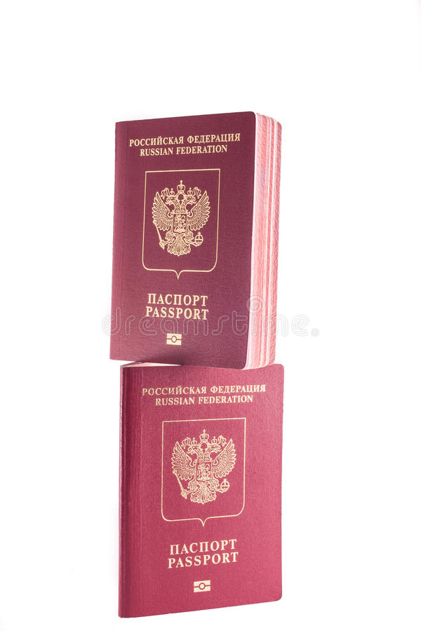 Two passports stock image