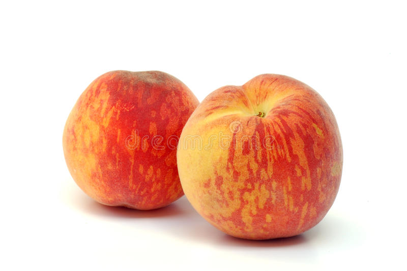 Download Two peaches stock photo. Image of healthy, fruit, white - 25121420