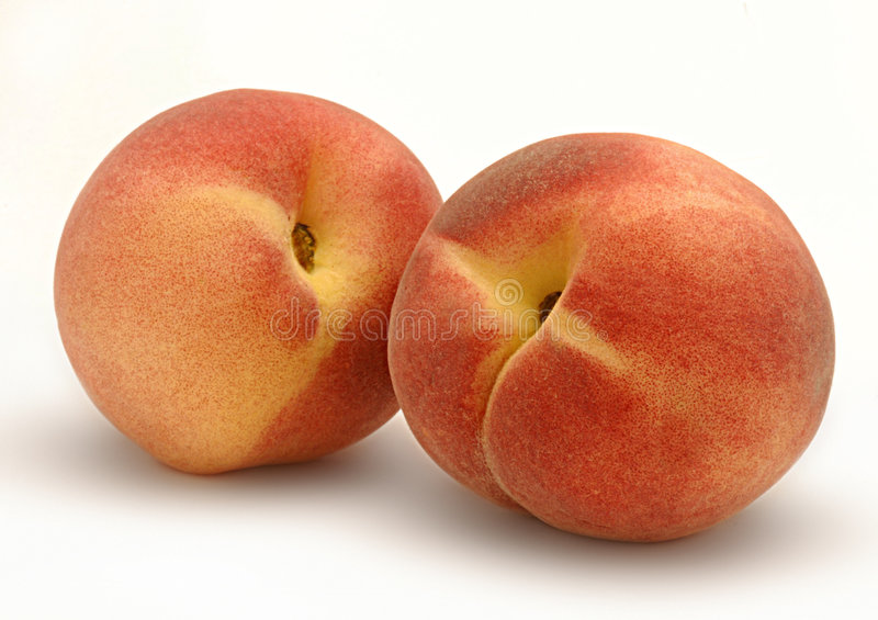 Two Peaches Royalty Free Stock Photography
