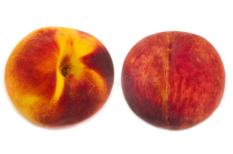 Download Two peaches isolated stock image. Image of food, up, sliced - 26535769